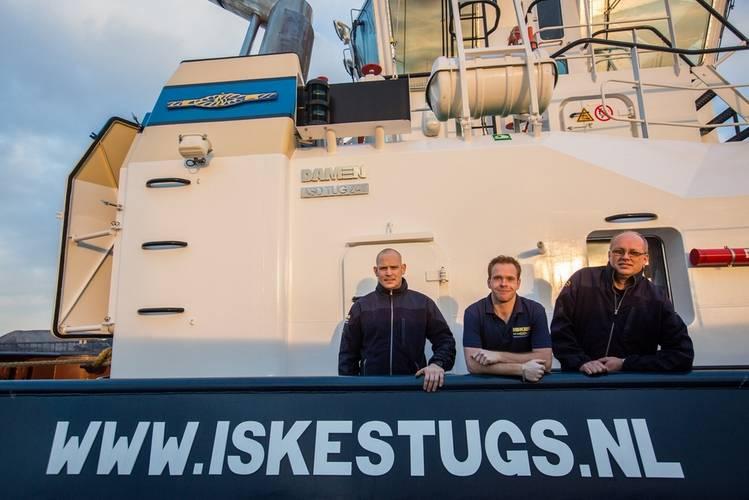 The Venus crew: (left to right) Niels Segelen, Auke de Haan and Wilco Wittekoek (Photo: Damen)