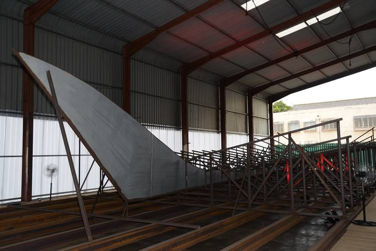 The keel of the vessel at the workshop of Tide Marine Shipyard (Photo: TNPA)