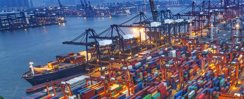 (The Port of Virginia set a new annual record for container cargo volume having handled more than 2.85 million TEUs, in calendar year 2018.)  Credit  Port of Virginia