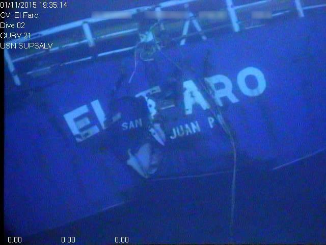 El Faro wreckage (Photo: NTSB)