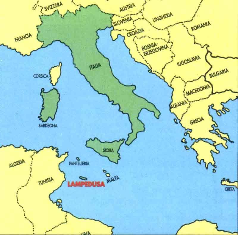 lampedusa karta Rabbit Beach Lampedusa Italy Karta lampedusa karta